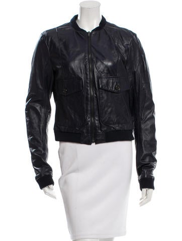 Boy. by Band of Outsiders Leather Bomber Jacket None