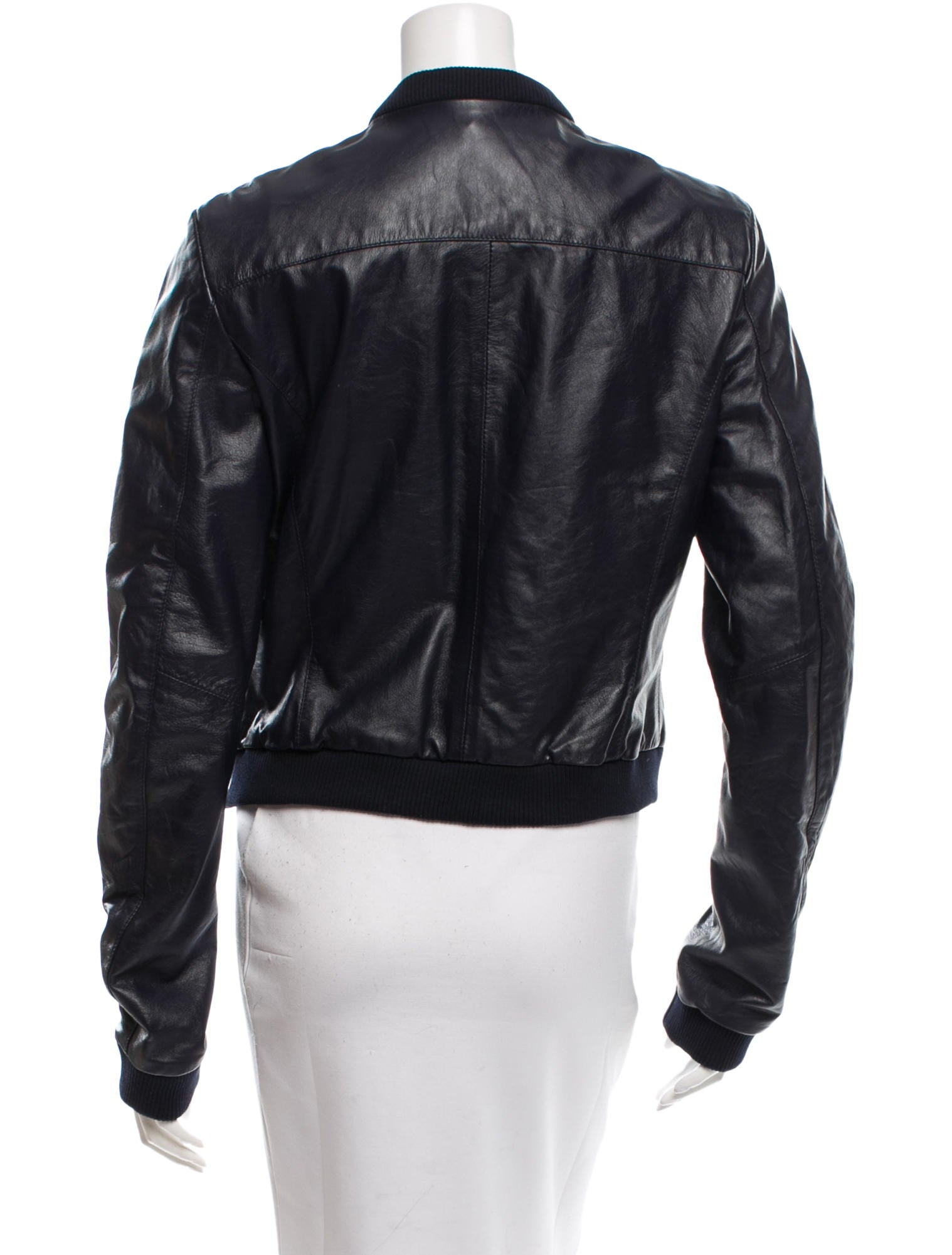 Boy. by Band of Outsiders Leather Bomber Jacket - Clothing - BOY21124 | The RealReal