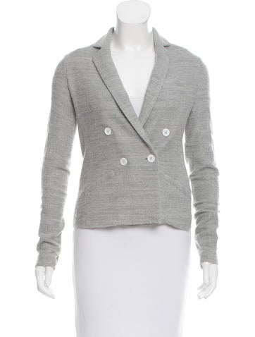 Boy. by Band of Outsiders Double-Breasted Knit Blazer None