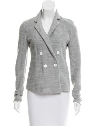 Boy. by Band of Outsiders Knit Double-Breasted Blazer None