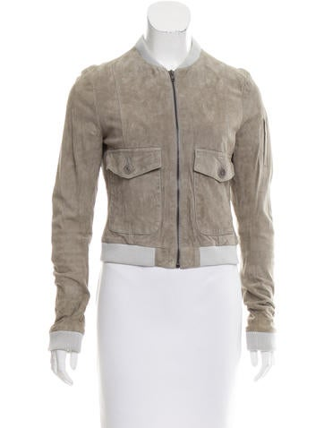 Boy. by Band of Outsiders Suede Bomber Jacket None