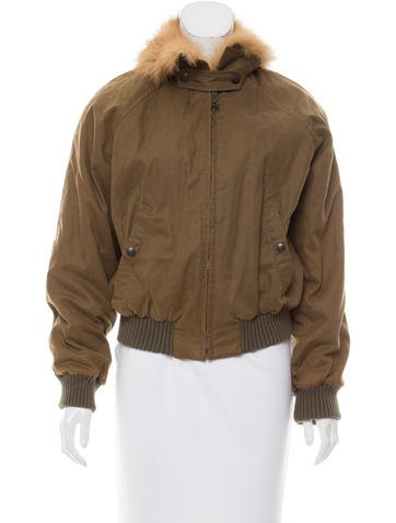 Boy. by Band of Outsiders Fur-Trimmed Bomber Jacket None