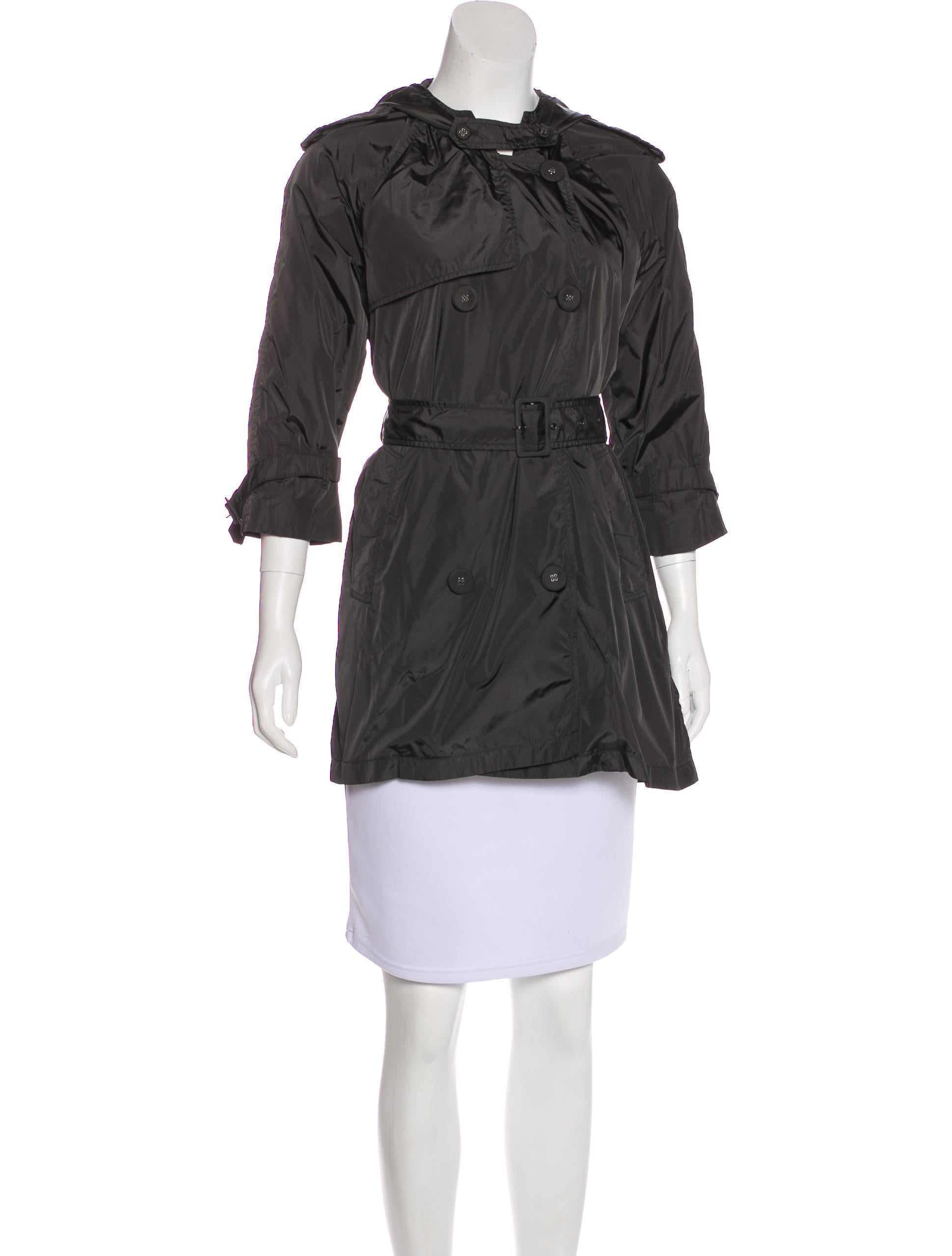 Cropped trench coat women