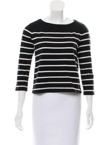 Boy. by Band of Outsiders Striped Bateau Neck Top None