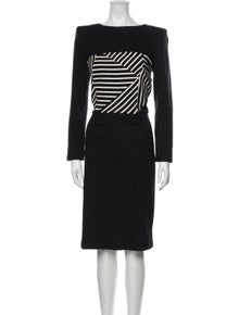 Boy. by Band of Outsiders Striped Midi Length Dress