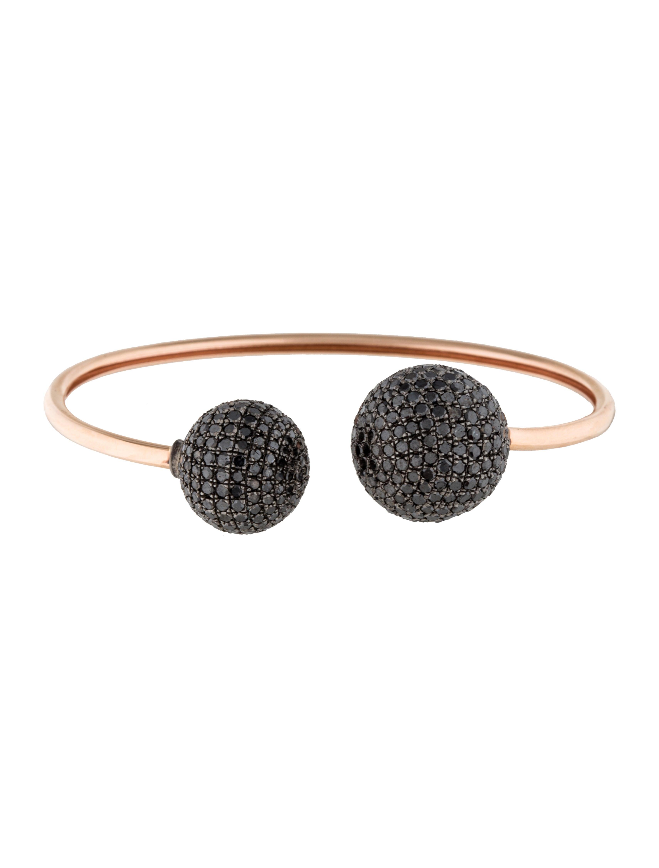 14k black diamond cuff bracelets brace20203 the realreal