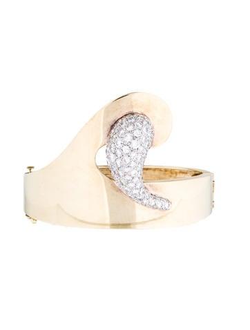 14K Pavé Diamond Bangle