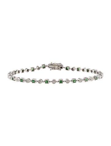 18K Diamond & Tsavorite Bracelet None