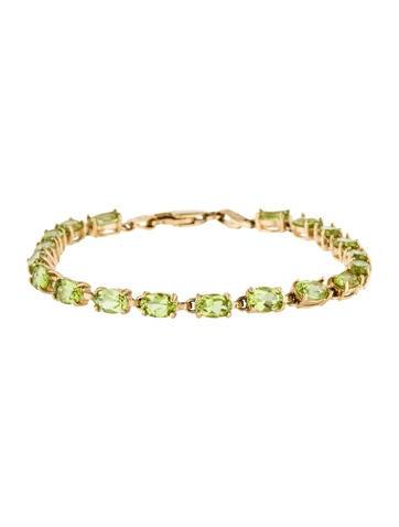 14K Peridot Link Bracelet None