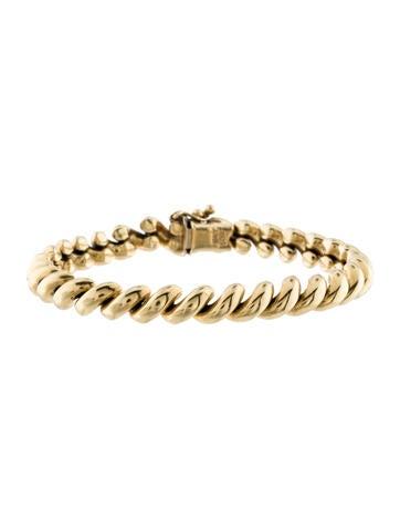 14K Link Bracelet None
