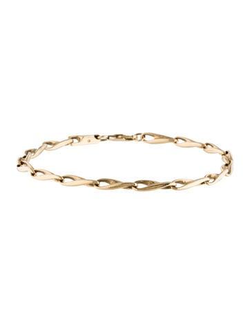 14K Twist Link Bracelet