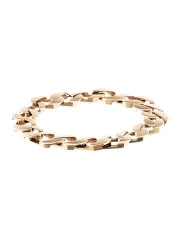 14K Large Link Bracelet None