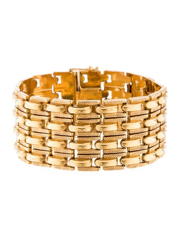 18K Link Bracelet None