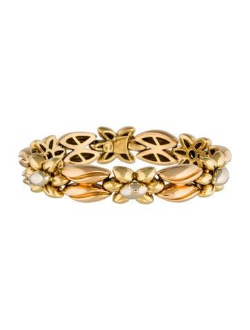18K Floral Link Bracelet