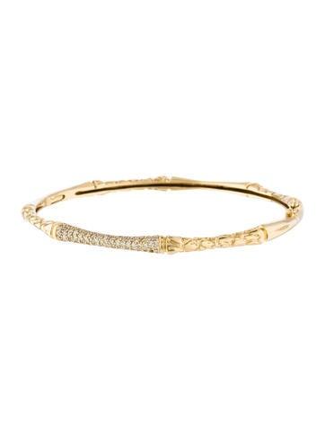 18K Diamond Textured Bangle Bracelet