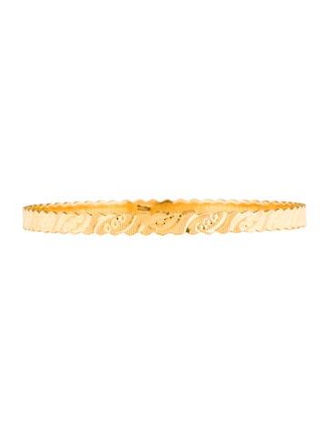 22K Textured Bangle Bracelet