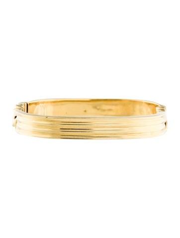18K Hinged Bangle Bracelet