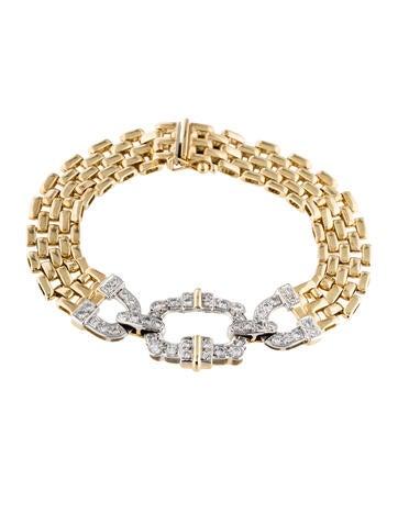 14K Diamond Station Link Bracelet