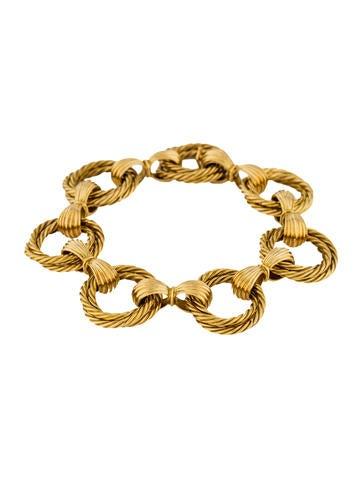 18K Braided Link Bracelet