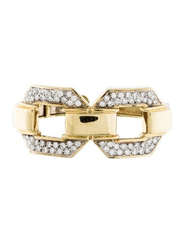 18K Diamond Cuff Bracelet