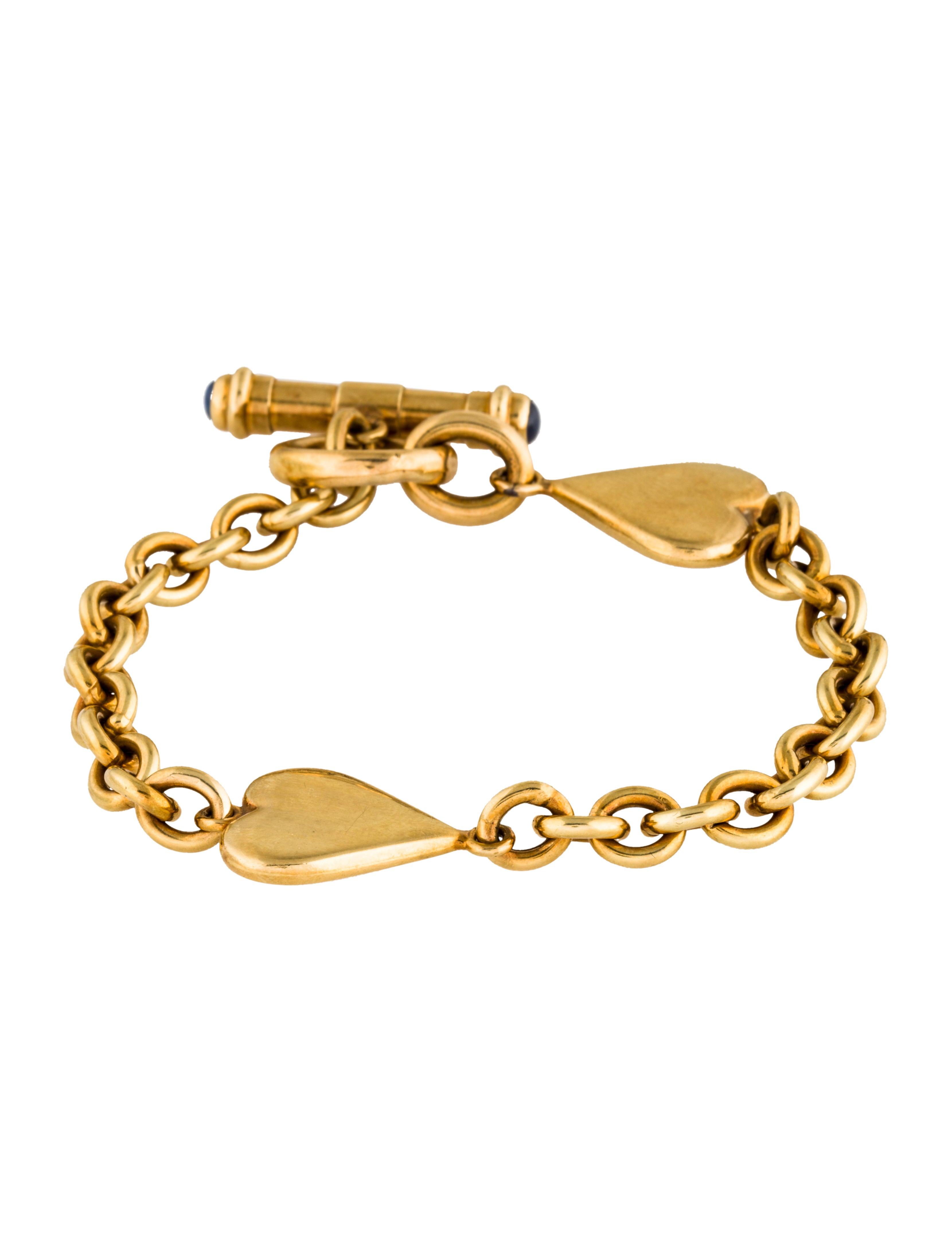 18k station toggle bracelet bracelets brace24629