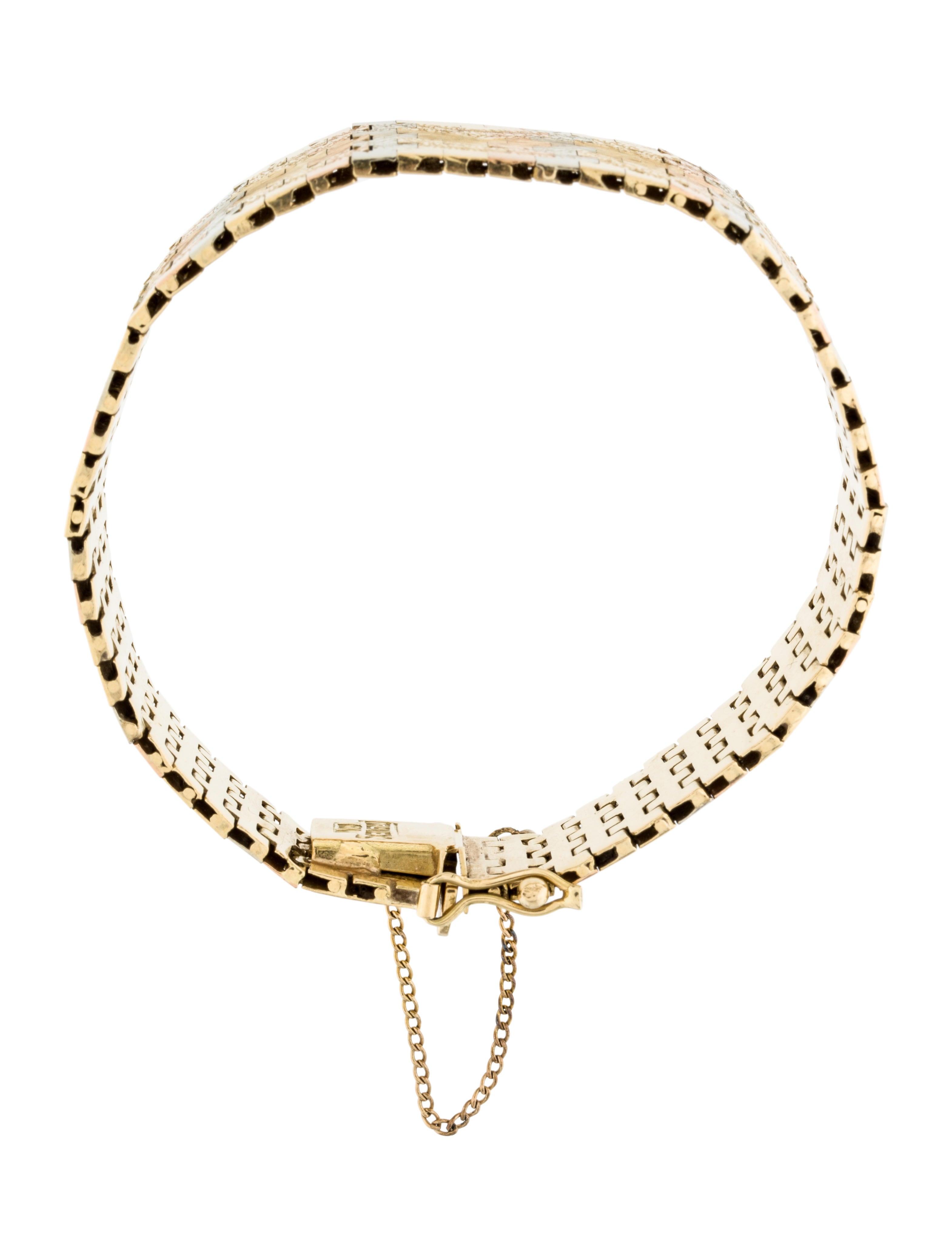 18k engraved link bracelet bracelets brace24873 the