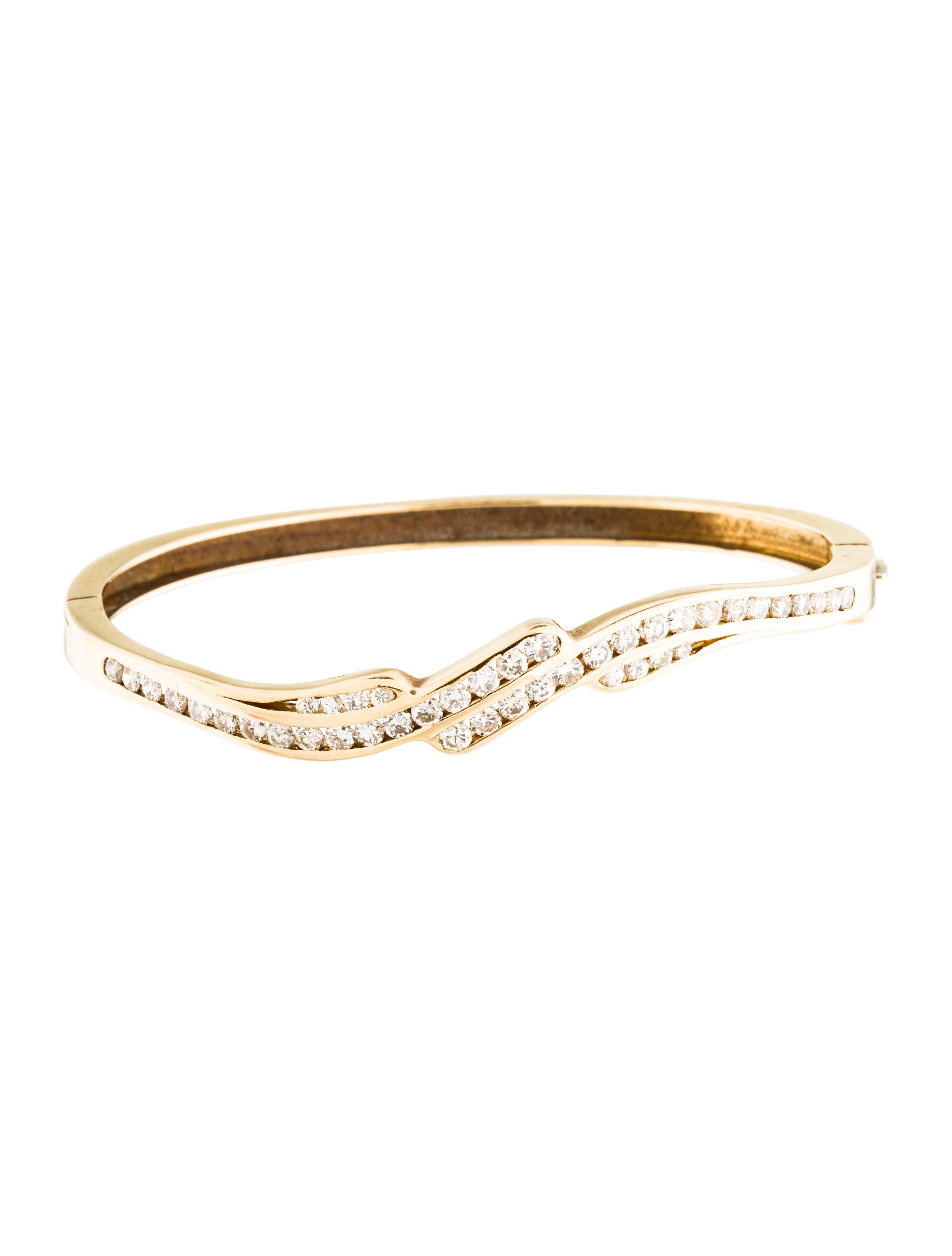Diamond Anklet With Toe Ring Lc00035 In Anklets From: 14K Diamond Bangle Bracelet - Bracelets - BRACE25102
