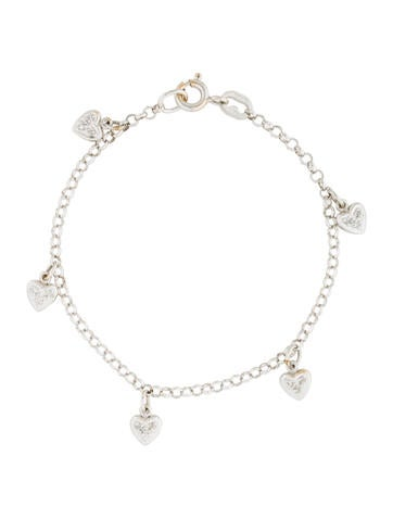 beauty in link pin bracelet diamond anklet gold heart white