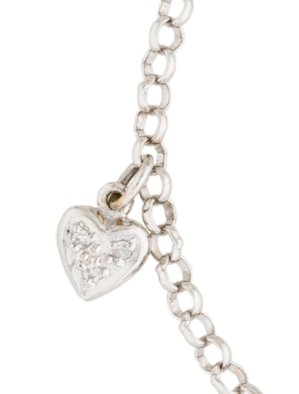 18k diamond heart charm bracelet bracelets brace25457