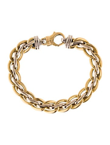 18K Double Link Bracelet None