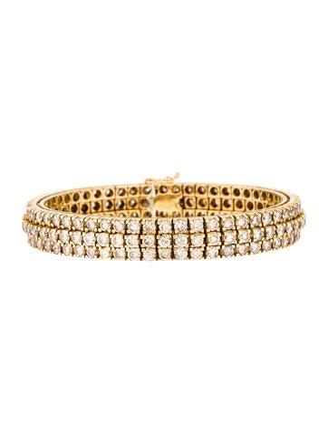 14K Diamond Link Bracelet None