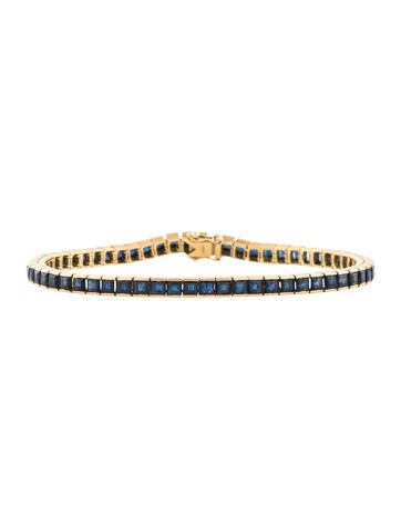 18K Sapphire Link Bracelet None