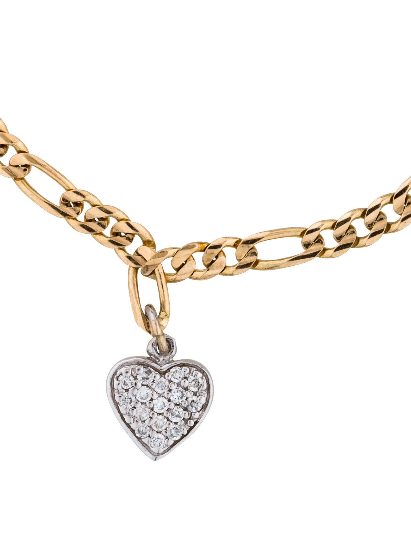 diamond heart charm bracelet bracelets brace27453