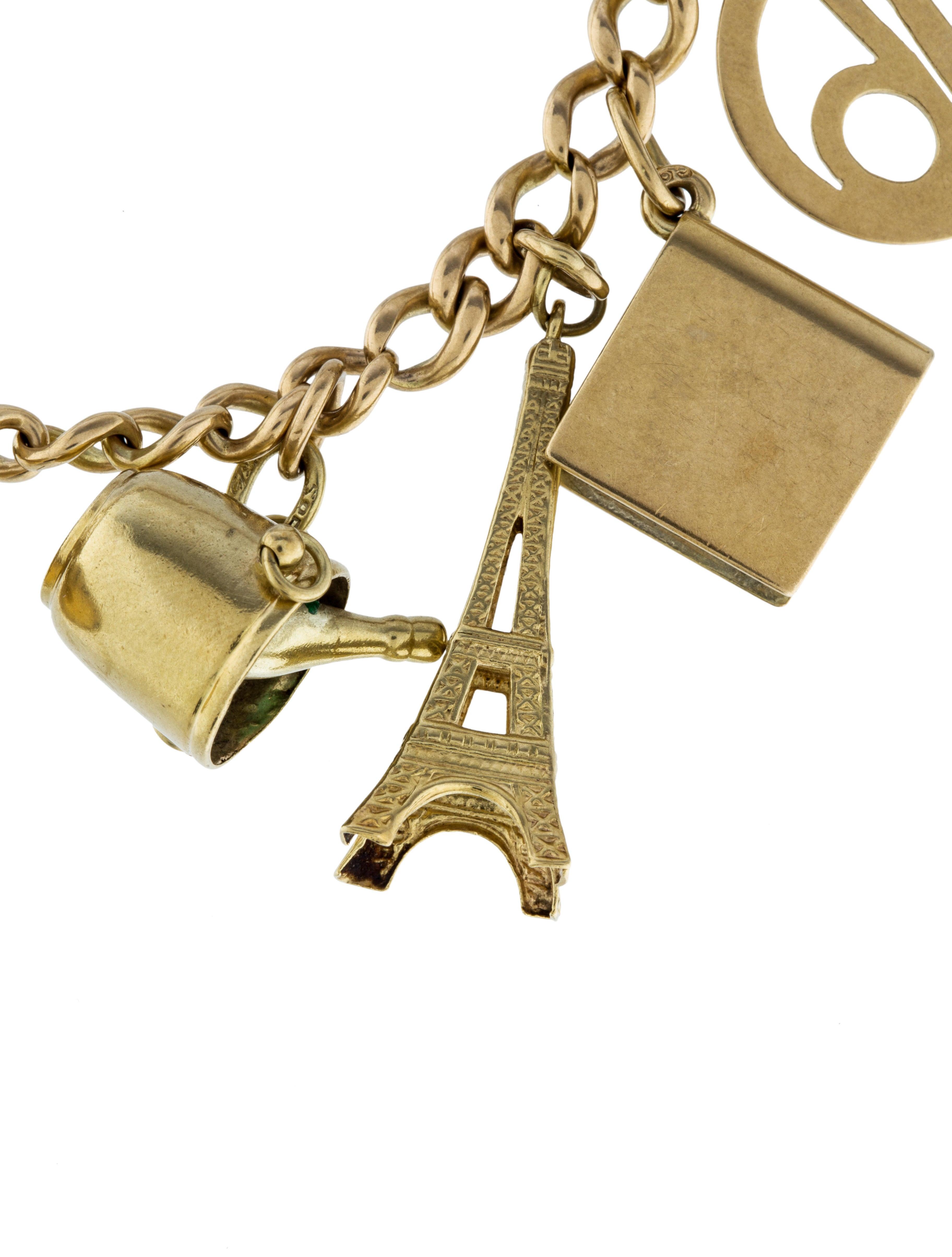 14k charm link bracelet bracelets brace27729 the
