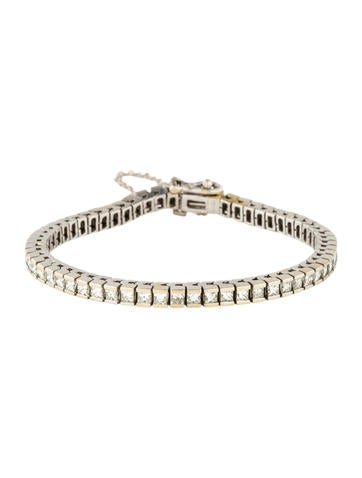 18K Diamond Link Bracelet None