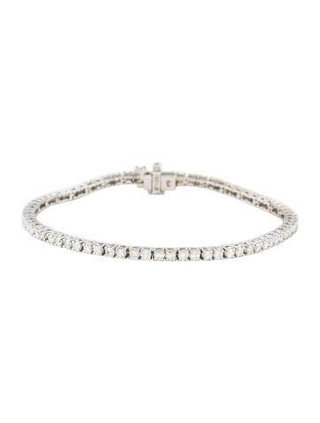 14K Diamond Tennis Bracelet None