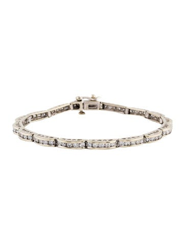 14K Diamond Link Bracelet None