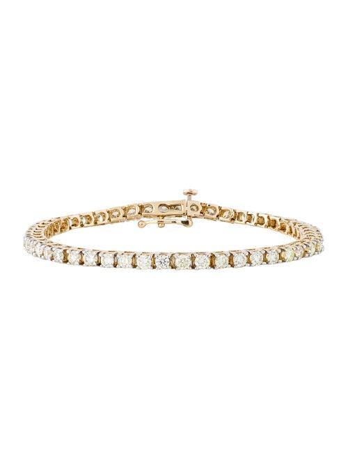14K 4.00ctw Diamond Tennis Bracelet yellow