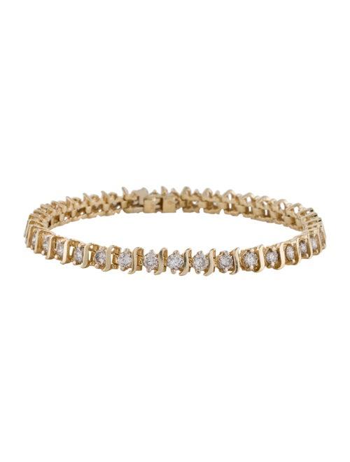 Bracelet 14K 5.28ctw Diamond Link Bracelet yellow