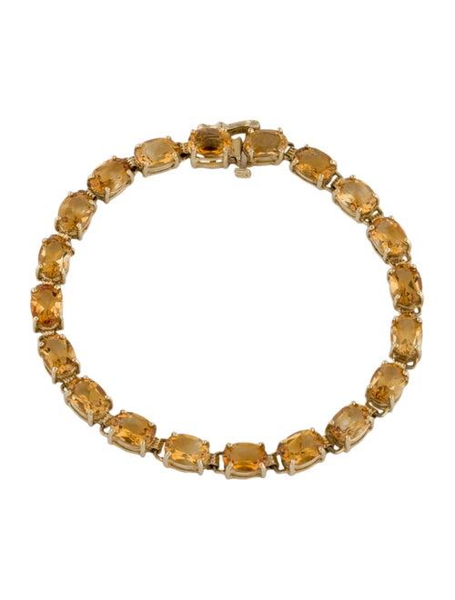 Bracelet 14K 13.18ctw Citrine Link Bracelet yellow