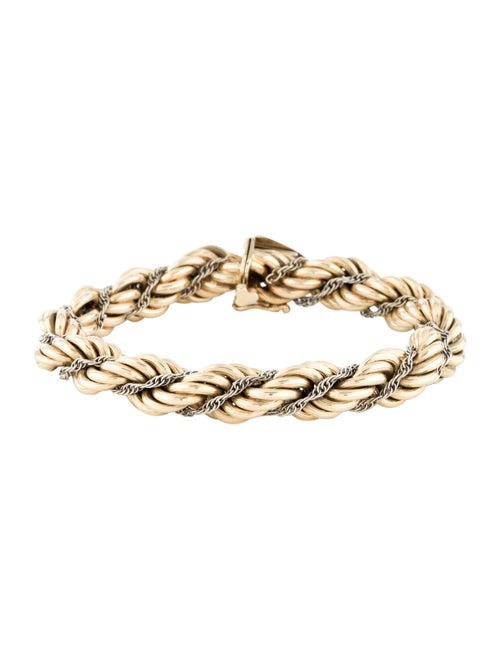 14K Rope Chain Bracelet yellow