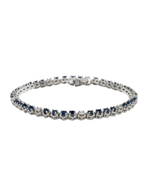 Bracelet 18K Sapphire & Diamond Tennis Bracelet wh