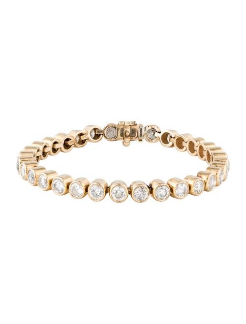 14K 9.92ctw Diamond Tennis Bracelet yellow