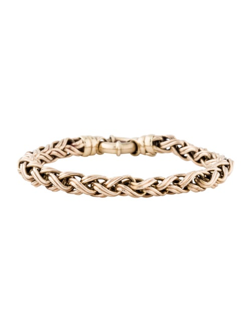 14K Wheat Chain Bracelet yellow