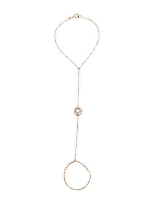 14K Diamond Hand Chain Bracelet rose