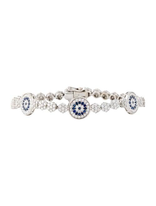 Bracelet 18K Diamond & Sapphire Link Bracelet whit