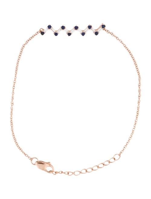 Bracelet 14K Diamond & Emerald Station Bracelet ro