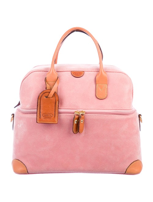 Bric's Leather Travel Case Pink