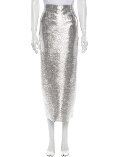 Brandon Maxwell Midi Length Skirt Metallic