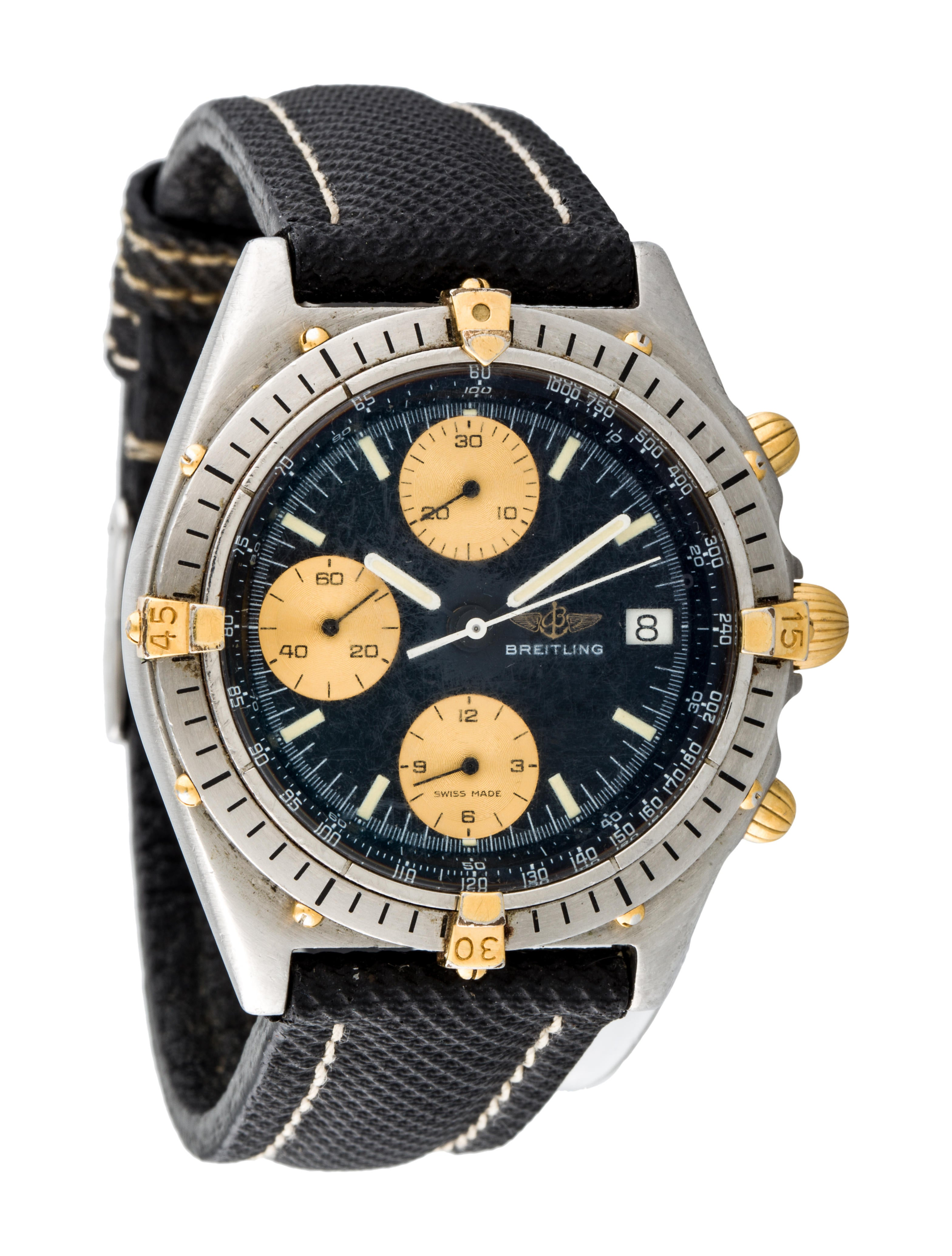 Breitling chronomat automatic watch 61950 strap bre20204 the realreal for Breitling automatic